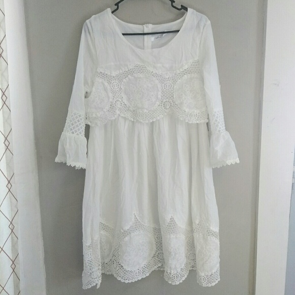 e61f9798ac8 Dresses   Skirts - White Lace Crochet Boho Festival Dress